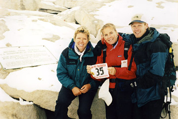 Louise Cooper with Lisa and Jay Batchen